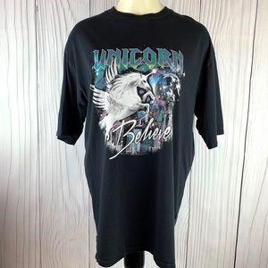 Unicorn Believer Graphic T- Shirt H&M Medium Black